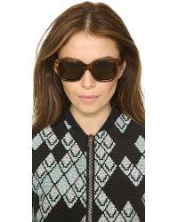 3.1 Phillip Lim   Wood Sunglasses - Wood/Brown   Lyst