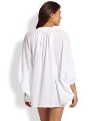 Mikoh Swimwear - White Oversized Caftan - Lyst