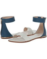 Yosi Samra | Blue Cambelle 3d Croco Leather Sandal | Lyst