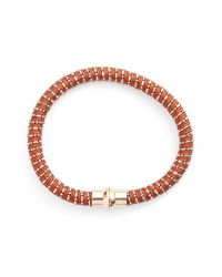 Nu Brand - Brown Beaded Bracelet - Lyst