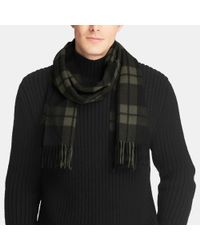 COACH | Green Mount Plaid Scarf for Men | Lyst