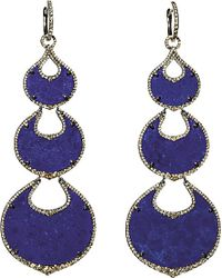Annoushka | Blue Cloud Nine Nocturnal 18ct White-gold, Lapis Lazuli And Pavé Diamond Chandelier Earrings | Lyst