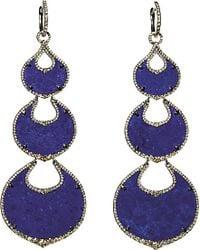 Annoushka | Purple Cloud Nine Nocturnal 18ct White-gold, Lapis Lazuli And Pavé Diamond Chandelier Earrings | Lyst