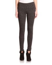 Joie - Gray Keena Smudge-print Ponte Leggings - Lyst