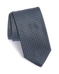 BOSS - Gray Check Silk Tie for Men - Lyst