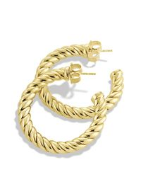David Yurman | Metallic Cable Classics Hoop Earrings | Lyst