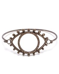 Rosa De La Cruz | Metallic 18K Oxidised Gold And Brown Diamond Bracelet | Lyst