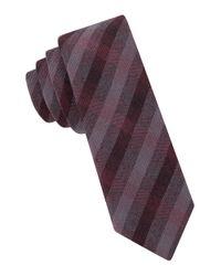 John Varvatos - Purple Seasonal Checked Tie for Men - Lyst