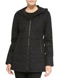 Canada Goose - Black Sable Quilted Zip Hoodie - Lyst