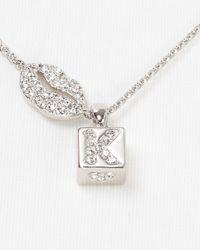 "Nadri - Metallic K.I.S.S. Block Pendant Necklace, 16"" - Lyst"