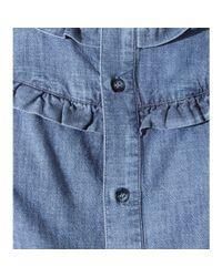 A.P.C. | Blue Stevy Cotton Blouse | Lyst