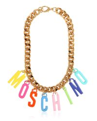 Moschino | Metallic Chain Necklace With Charms | Lyst