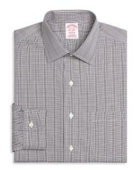 Brooks Brothers - Black Non-iron Madison Fit Glen Plaid Dress Shirt for Men - Lyst
