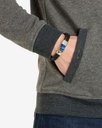 Ted Baker - Black Flat Weave Leather Bracelet for Men - Lyst
