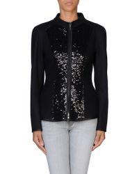 Philosophy di Alberta Ferretti - Black Sequin-embellished Wool-blend Jacket - Lyst