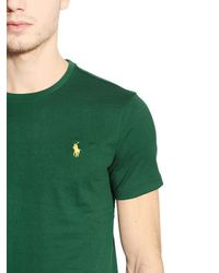 Polo Ralph Lauren - Green Logo Embroidered Cotton T-shirt for Men - Lyst