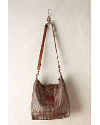 Campomaggi | Metallic Perforated Silver Shopper | Lyst