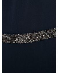 Badgley Mischka - Blue Long Gown Dress - Lyst