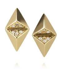 Maria Black | Metallic Billy 18-Karat Gold Diamond Earrings | Lyst
