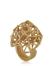 Lotocoho | Metallic Voronoi Ii Ring | Lyst