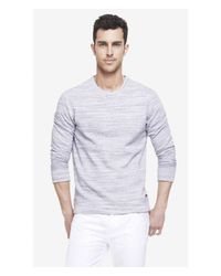 Express - Blue Space Dyed Fleece Sweatshirt for Men - Lyst
