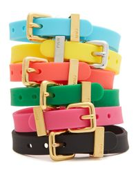 Marc By Marc Jacobs - Yellow Logo Rubber Bandz Bracelet - Lyst