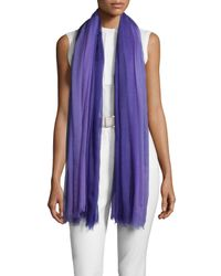 Loro Piana - Purple Iride Unique Cashmere Stole - Lyst