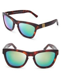 Westward Leaning - Green Louisiana Purchase Mirrored Wayfarer Sunglasses - Lyst