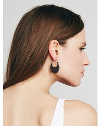Free People - Brown Womens Tribe Metals Hoops - Lyst