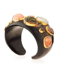 Ashley Pittman | Multicolor Mawe Dark Horn Cuff Bracelet | Lyst