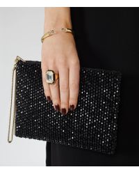 Reiss - Metallic Petra Bangle With Crystals From Swarovski - Lyst