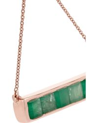 Monica Vinader - Metallic Baja Rose Gold-plated Emerald Necklace - Lyst