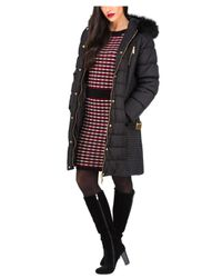Jane Norman | Black Longline Belted Padded Coat | Lyst