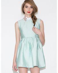 Michelle Mint - Green Studded Collar Dress - Lyst
