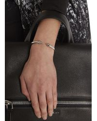 Vita Fede | Metallic Mini Titan Silver Tone Bangle | Lyst