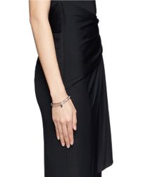 Philippe Audibert | Pink Crystal Embellished Elasticated Bracelet | Lyst