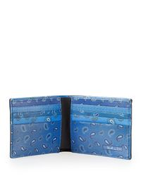 Etro - Multicolor Paisley Bifold Wallet for Men - Lyst