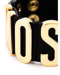 Moschino | Black Logo Plaque Cuff | Lyst