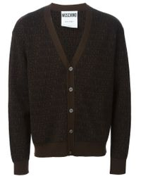 Moschino - Brown Monogrammed Cardigan for Men - Lyst