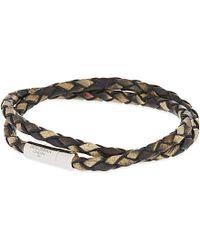 Tateossian - Xxv Anniversary Scoubidou Double-wrap Bracelet, Men's, Brown 1 for Men - Lyst