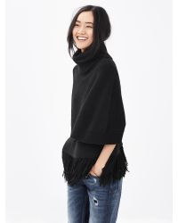 Banana Republic | Black Turtleneck Short Sweater Capelet | Lyst