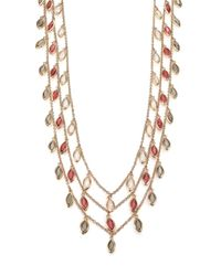 ABS By Allen Schwartz | Metallic Some Like It Hot Marquis Charm Necklace/grey | Lyst