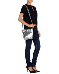 MM6 by Maison Martin Margiela - Metallic Cross-body Bag - Lyst