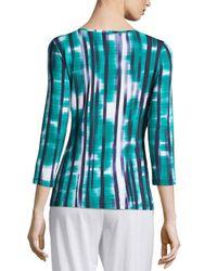 Cosabella - Blue Loire 3/4-sleeve Striped Lounge Top - Lyst