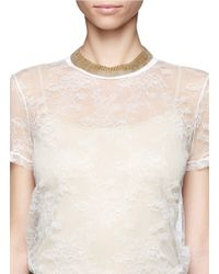 Ela Stone | Metallic Liad Bead Mesh Necklace | Lyst