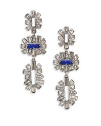 Alexis Bittar | Blue Miss Havisham Crystal Framed Baguette Tiered Drop Earrings | Lyst