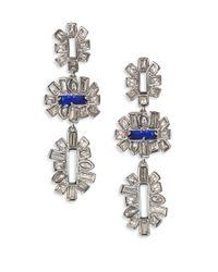 Alexis Bittar | Blue Miss Havisham Crystal Framed Baguette Tiered Drop Earrings | Lyst