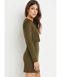 Forever 21 - Green Layered Dress - Lyst