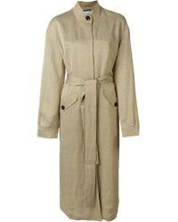 Hope | Natural Mandarin Collar Trench Coat | Lyst