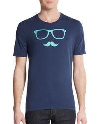 Original Penguin | Blue Sunstache Graphic Cotton Tee for Men | Lyst
